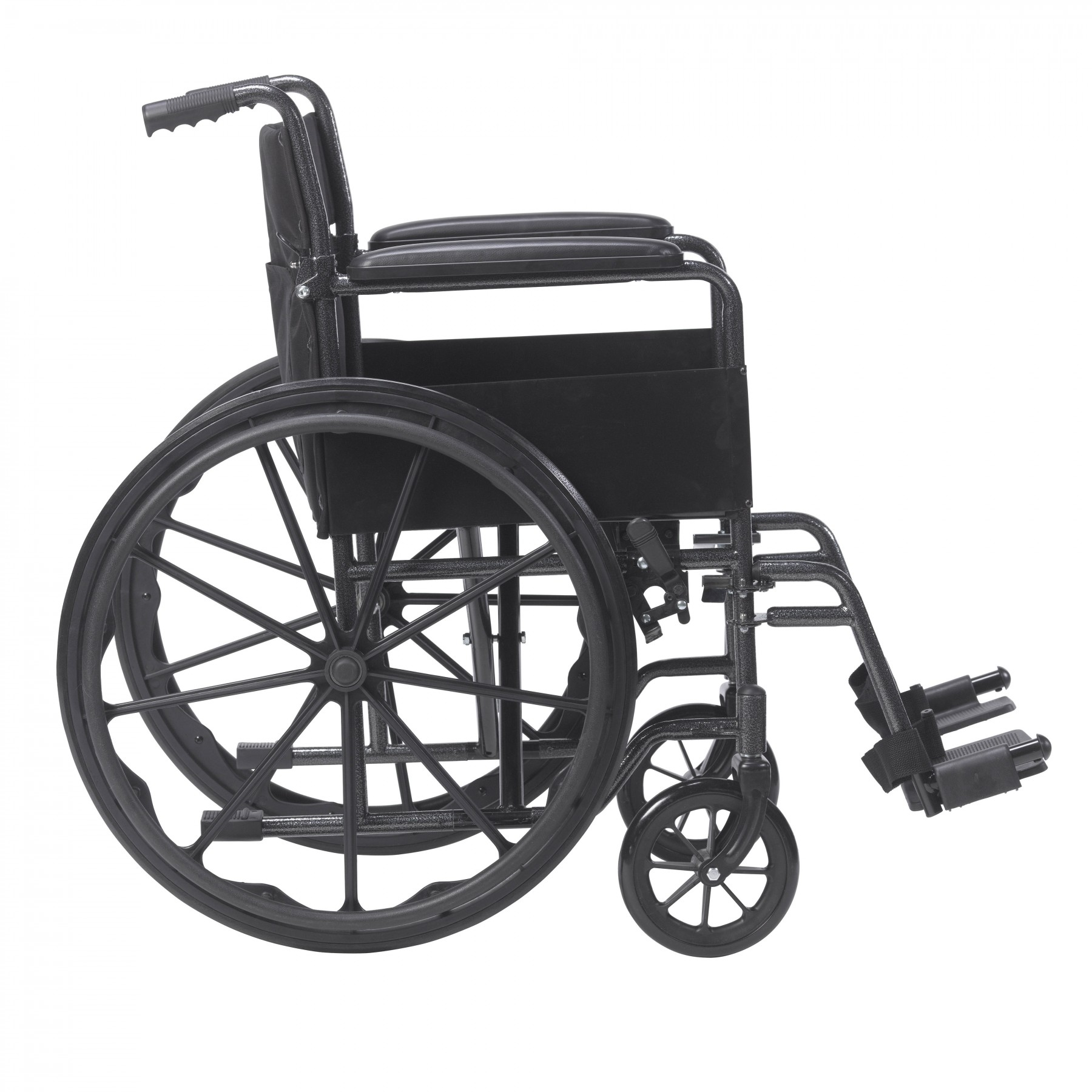 Drive Medical Silver Sport 1 Wheelchair with Full Arms and Swing away  Removable Footrest SKU:DR-ssp118fa-sf