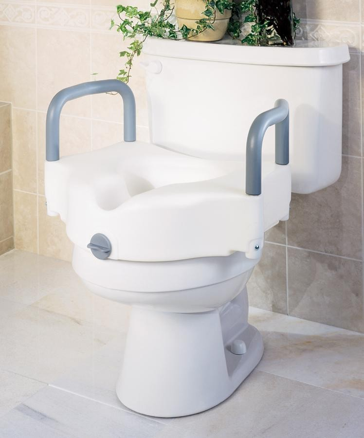 Medline Locking Raised Toilet Seats with Arms