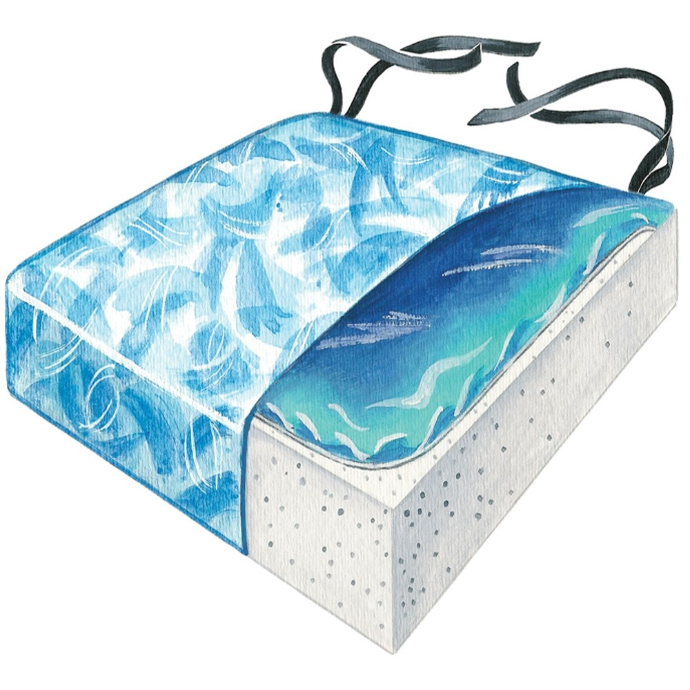 Skil-Care Bimini Blue Gel-Foam Cushion