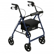 Drive Medical Aluminum Rollator with Fold Up and Removable Back Support and Padded Seat