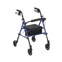 """Drive Medical Adjustable Height Rollator with 6"""" Wheels"""