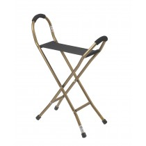 Drive Medical Folding Lightweight Cane with Sling Style Seat