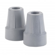 "Drive Medical Forearm Crutch Tip 5/8"", Gray, Pair"