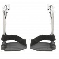Drive Medical Chrome Swing Away Footrests with Aluminum Footplates, 1 Pair