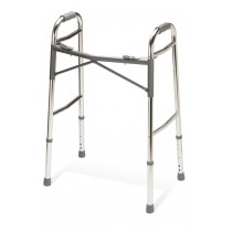 "Medline Youth Heavy-Duty Two Button Folding Walkers,3"" OR 5"""