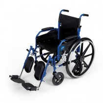 Medline Hybrid 2 Transport Wheelchair Chairs,F: 8   R: 24