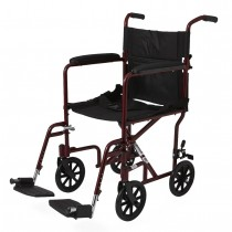 """Medline Aluminum Transport Chair with 8"""" Wheels"""