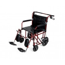 Medline Lightweight Bariatric Transport Chair,Red, 19""