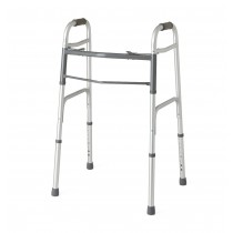"Medline Two-Button Folding Walkers without Wheels,3"" OR 5"""