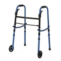 "Medline Folding Paddle Walkers with 5"" Wheels,Blue,5"""