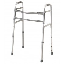 Medline Bariatric Two-Button Folding Walker,5""