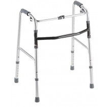 "Medline Youth One-Button Folding Walkers,3"" OR 5"""