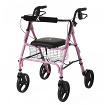 "Medline Rollators with 8"" Wheels,Pink,8"""