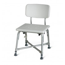 Medline Bariatric Aluminum Bath Bench with Back