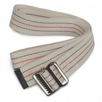 Medline Washable Cotton Material Gait Belts,Red, White & Blue Stripes