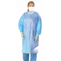 Medline Medium Weight Multi-Ply Fluid Resistant Isolation Gown